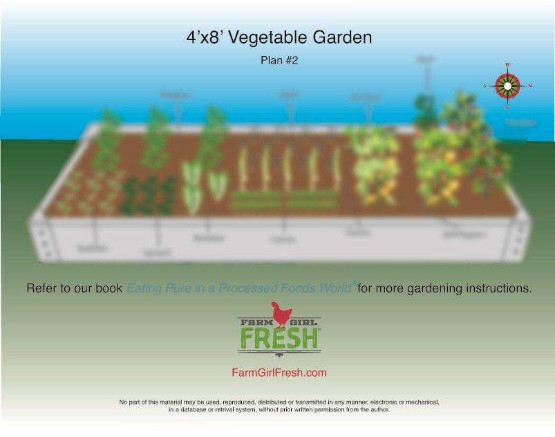 Planting Guide 4 X 8 Vegetable Garden Plan 2 Farm Girl Fresh