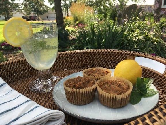 lemon balm zucchini muffins