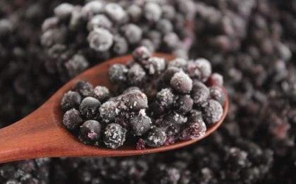 frozen elderberries