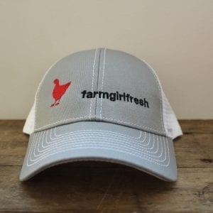 Farm Girl Fresh Cap Mesh Snapback Trucker Cap White - 6
