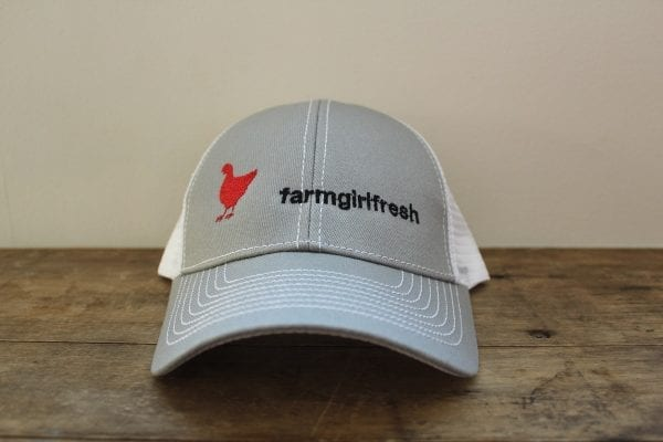 Farm Girl Fresh Cap Mesh Snapback Trucker Cap White - 6