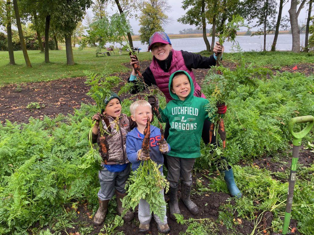 family garden carrots