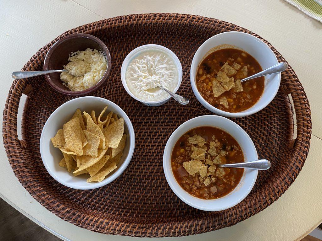 taco soup tray